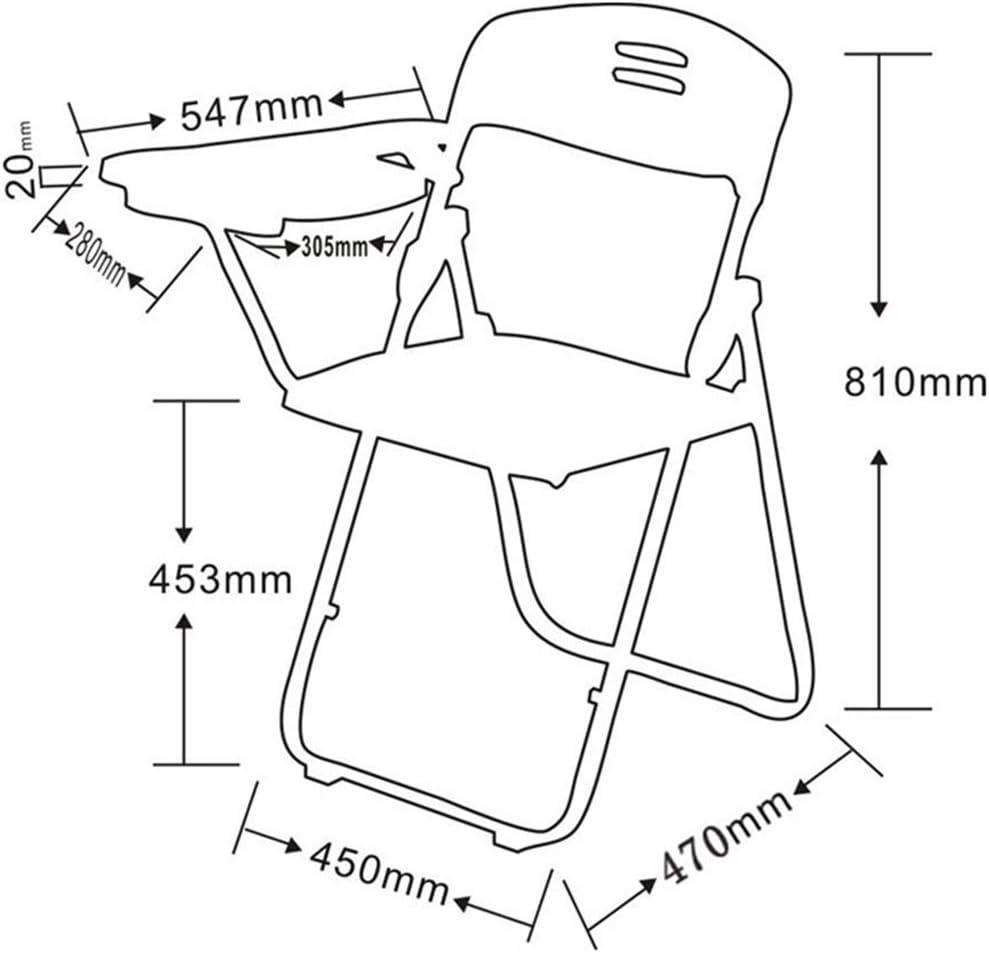 Chaise Pliante Chaise de Bureau Chaise de conférence avec Tableau Chaise Pliante Bleu/Gris/Noir Chaise de Salle à Manger avec Livre Net Back Chair Chaise de Formation Blue