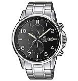 Casio EDIFICE Reloj en caja sólida, 10 BAR, Negro, para Hombre, con Correa de Acero inoxidable,...