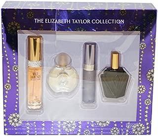Elizabeth Taylor Fragrance Collection 4-Piece Set for Women (White Diamonds, Forever Elizabeth, Violet Eyes, Passion)