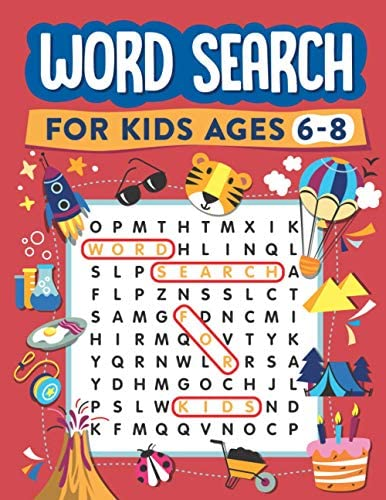Word Search for Kids Ages 6 8 100 Word Search Puzzles Search and Find product image