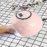 Dieciséis 0W UV LED Máquina de secador de uñas Modo de movimiento Modo de tiempo Lámpara de uñas Seddiing AC110-240V 0911 (Color : Pink)