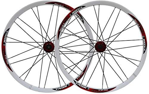 26' Bicicletas Juego de Ruedas de MTB de Doble Pared de Llantas de Aluminio de Freno de Disco 7-11 Neumáticos Velocidad 1.5-2.1' 6 Colores Sellado 28H rodamientos del Eje del Lanzamiento rápido