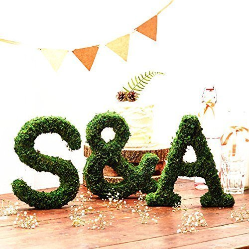 "Byher Dried Moss Table Runner for Party Garden Decoration, Dark Green (30cm X 180cm (12"" x 71""))"