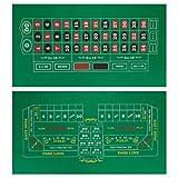 Double-Sided Craps Table & Roulette Casino Felt   Convenient, Space-Saving 36