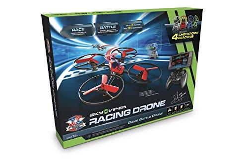 Goliath 90293 Sky Viper M.D.A. Racing drone, Quadrocopter, vlinderrace met tot 4 drones, automatische start-, land- en zweeffunctie, 2,4 GHz, stabilisatiesysteem, beginners en professionele modus.