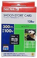 サンディスク SHOOT&STORE 'miniSD 128MB(アダプター付) SDSDMS-128-J60A