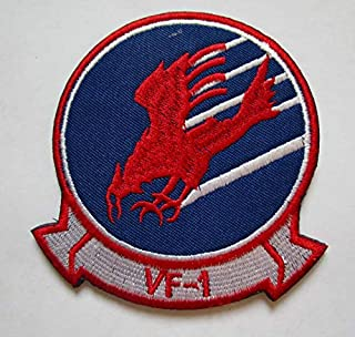 TOP Gun Movie Maverick Goose Cougar VF-1 Military Patch Fabric Embroidered Badges Patch Tactical Stickers for Clothes with Hook & Loop