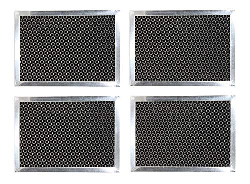 """Compatible Microwave Hood Charcoal Filters for GE WB02X10733 JX81B 6-3/8"""" x 8-11/16"""" x 3/8"""" (4 Pack) -  Babill"""