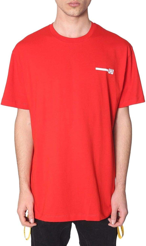 LES men Men's URG820PUG8235001 Red Cotton TShirt