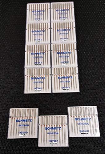 Agujas para Máquina de Coser Schmetz - Universal (Regular / Ordinario), Tamaño: 90/14 - Paquetes de 10: 11 Paquetes por el Precio de 8 - Bulk Descuento Deals para Gran Ahorro - hasta 30 Agujas GRATIS