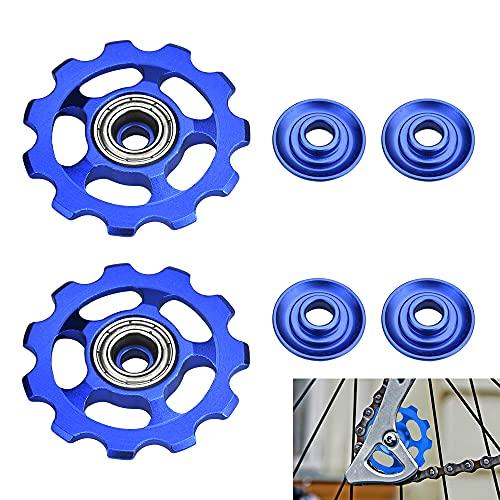 'N/A' STCRERAG 2Pcs Rear Derailleur Pulley Aluminum Alloy Guide Wheel 11T Jockey Wheels Rear...