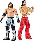 WWE WrestleMania Coffret de combat avec deux figurines articulées de catch Aj Styles & Shinsuke Nakamura de 17cm, jouet pour enfant, GDC04