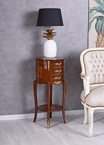 PALAZZO INT Barock Kommode Wandtisch Blumenständer Intarsien Konsole Blumentisch Pallazo Exklusiv