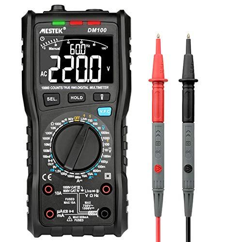 ROEAM Digital Multimeter Messgerät, MESTEK 10000 Zählt das multifunktionale True RMS-Digitalmultimeter zur Messung der AC/DC-Spannung, der Frequenz, der Diodentemperatur und der Luftfeuchtigkeit