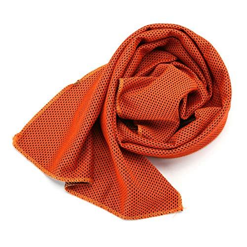 Mdsfe 1 Stück kaltes Handtuch Schnelltrocknendes BadSchwimmenSport Laufen SCHNELL TROCKENES Handtuch Ice Cooling Dry Fitnessstudio Sport Badetücher für Erwachsene - Warmes Orange, a3