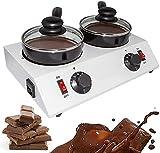 Qjkmgd Pote de fusión de Chocolate, Profesional 30  ~ 85  Máquina templadora de Chocolate con Control Manual, Chocolate calentado para fusión de Chocolate