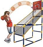 WanJia Rack da Basket Mobile, Sistema di tiro Sportivo Indoor, con Mini Basket, Palla Gonfiabile Miglior Gioco di tiro a Basket Portatile per Bambini,B