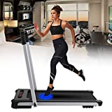 Fine Style 2 in 1 Foldable Treadmill Walking Running Exercise Treadmill Portable Running Machine with Display Controller Easy Install,LED Display, Walking Jogging for Home Office