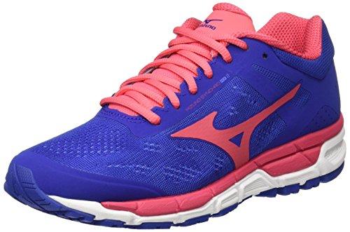 Mizuno Synchro MX W, Zapatillas de Running Mujer, Multicolor (Deepultramarine/paradisepink/White), 37 EU