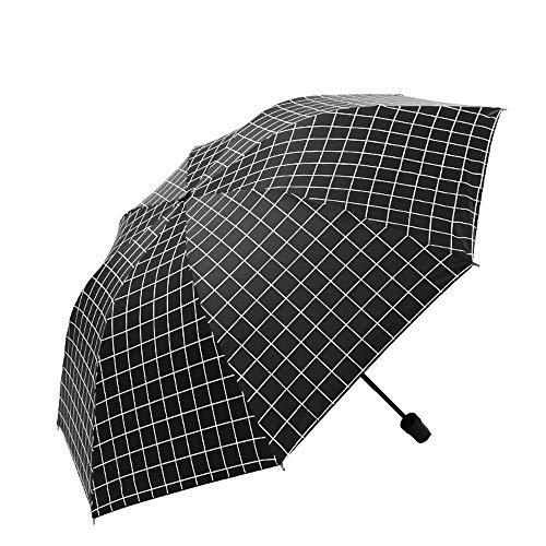 NKJH Ausgabegeräte Reiseregenschirm for Frauen Männer Taschenschirm UV-Schutz Winddicht Schwarzer Kleber Anti-UV-Beschichtung Kompakt Regenkleidung (Color : White, Size : One Size)