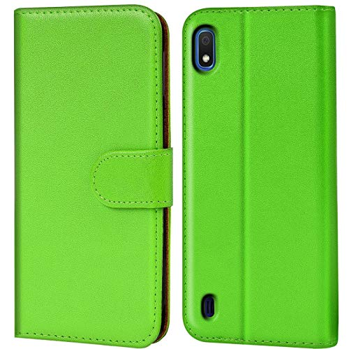 Verco kompatibel mit Samsung Galaxy A10 Hülle, Handyhülle für Galaxy A10 Tasche PU Leder Flip Case Brieftasche - Grün