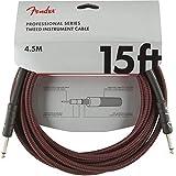 Fender シールドケーブル Professional Series Instrument Cable, 15', Gray Tweed
