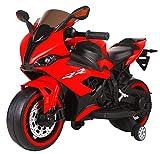 Tecnobike Shop Moto Elettrica per Bambini Moto Runner 12V S1000 RR Luci LED Suoni Illuminata Ingr. Mp3 (Rosso)