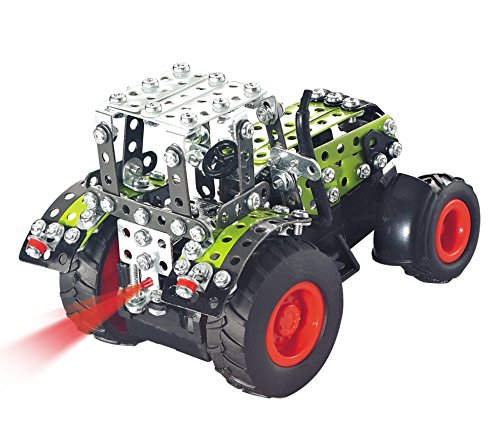 RC Auto kaufen Traktor Bild 6: Metallbaukasten RC Traktor Claas Axion 850 Komplett-Set - 462 Teile LED Licht Maßstab 1:64 Werkzeug Set ab 12 Jahren Anleitung Erwachsene Metallbaukästen Metallbautechnik Lernfeld Micro Tronico*