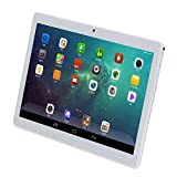 10.1 inch Tablet Android 9.0 Google Quad Core 4GB RAM 64GB ROM IPS Screen 10 in Tablets with GPS Bluetooth WiFi and Dual Camera (Silver)