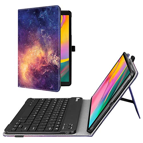 Fintie Folio Keyboard Case for Samsung Galaxy Tab A 10.1 2019 Model SM-T510(Wi-Fi) SM-T515(LTE) SM-T517(Sprint), Premium PU Leather Stand Cover with Removable Wireless Bluetooth Keyboard, Galaxy