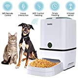 Iseebiz Automatic Pet Feeder 5L Smart Feeder Dog Cat Food Dispenser with WiFi App Control,Voice Recording,Timer Programmable, Portion Control, IR Detect, 8 Meals Per Day for Small and Medium Pet
