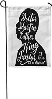 Semtomn Garden Flag December 30 Illustrative Editorial Portrait Dr Martin Luther King Jr Home Yard House Decor Barnner Outdoor Stand 12x18 Inches Flag