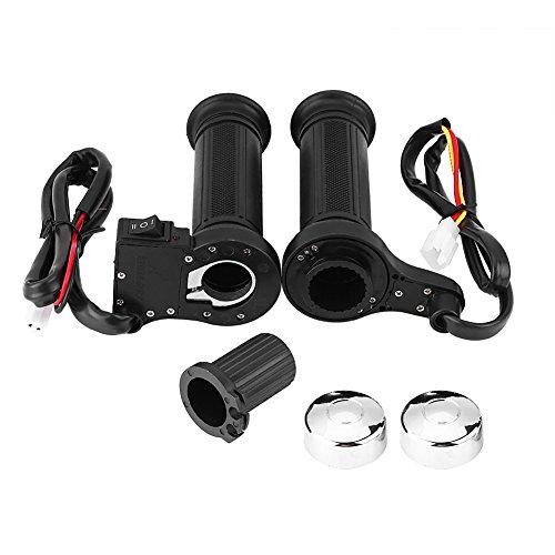 7/8 Impugnature riscaldate elettriche per moto, manopole universali riscaldate a caldo manubrio più calde con coperture e manicotto per moto/bici/ATV