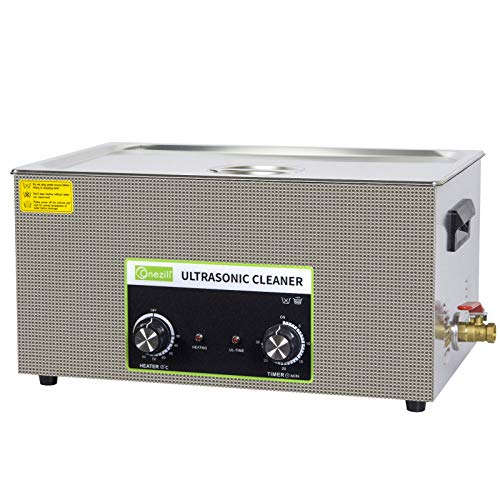 Limpiador por ultrasonidos comercial, cesta de panel digital profesional con botón de 20 l y temporizador, para la limpieza de grandes tarjetas de circuitos impresos en metal, gafas, etc.
