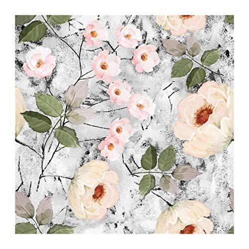 W-L Acuarela Peel Floral y Papel Pintado Papel Pintado extraíble Papel de Pared Autoadhesivo de Vinilo para Paredes para el hogar Decorativo de baño (Color : Multi-Colored, Size : 45x300cm)