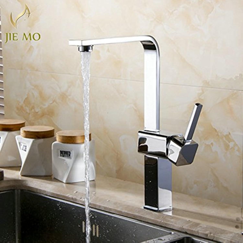 Retro Deluxe Faucetinging Chrome Finish Kitchen Faucet Single Handle Swivel Kitchen tap Sink Basin Mixer Tap Crane 360 Degree redate JM6675