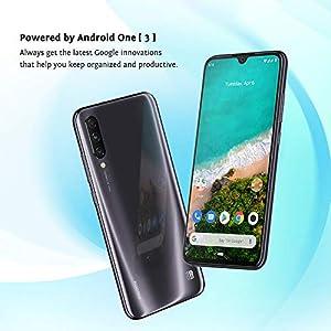 Xiaomi Mi A3 Smartphones 4 GB RAM + 128 GB ROM, Pantalla de 6.088', Procesador Octa-Core, 32 MP Frontal y 48 MP AI Triple Cámara, Color Negro (Otra version Europea)
