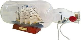 Hampton Nautical Flying Cloud Ship in a Bottle, Blue, 11