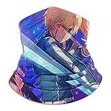 asdew987 Sword Art Online Eugeo Polaina para el cuello, bufanda facial, bandana sin costuras, diadema para hombres y mujeres, sol, protección contra el viento y el polvo, esquí, equitación