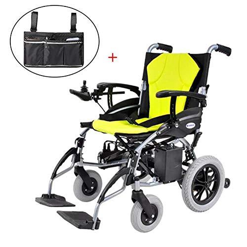 GUTYRE Faltbare Elektro-Rollstuhl mit Aufbewahrungstasche, Automatische Leichten Gehhilfe, Elektrischer Energie oder manueller Manipulation Rollstuhl für Senioren, 16kg