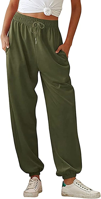 Rovga Women's Athletic Sweatpants Elastic Waist Drawstring Workout Joggers Pants Lounge Sweat Pants with Pockets
