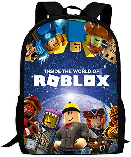 Rob-lox Rugzak met 3D-print, schoolrugzak, schoolrugzak, voor meisjes en jongens