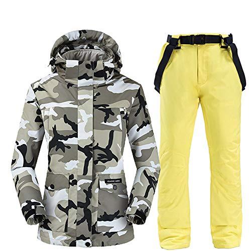 ZYJANO ski pak, Winter Outdoor Sport Vrouwen Ski Suit Sneeuw Skiën Set Thermisch Waterdicht Winddicht Vrouwelijke Camouflage Snowboard Jassen en Broeken