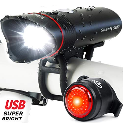 Cycle Torch Shark 500 USB Rechargeable Bike Light...