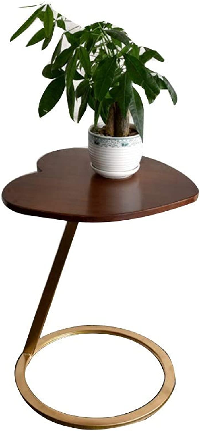 YNN Coffee Table, Side Corner Table, Bedside Table Telephone Table Modern Living Room Iron Solid Wood 4 colors 45 X 45 X 60cm (color   C)