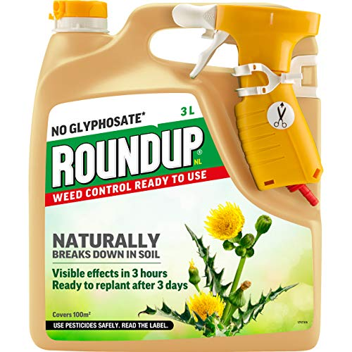 Roundup 119872 Naturals Glyphosate-Free Powerful Weed Killer - 3 Litre Power-Sprayer, Ready to Use