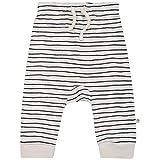 MakeMake Organics Organic Baby Pajamas GOTS Certified Organic Cotton Baby Harem Pants PJ with Diaper Room Sleep Play Unisex Baby Boy Girl (6-12 Months, Blue Stripes)