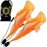 Pro ANGEL WINGS Poi Set (Orange) Flames N Games Spiral Poi. Swinging Poi und Spinning Pois! Pois für Anfänger und Profis.