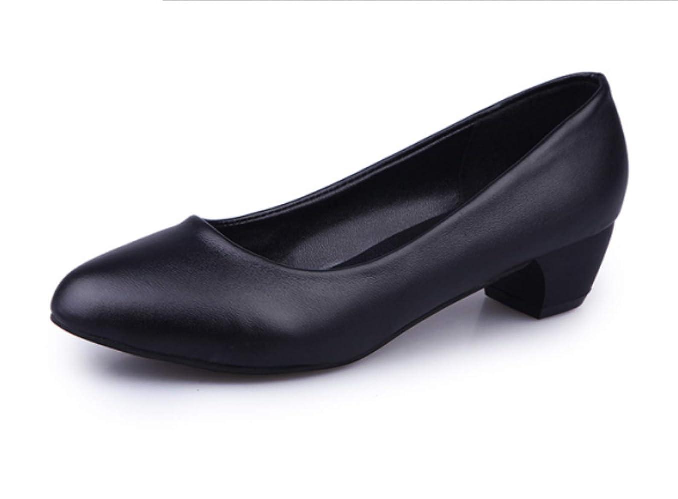 プライムメトロポリタンさようなら[GWEI] ローヒール 作業靴を 履いて 快適な 浅い口元 ハイヒール 大きいサイズ 通勤
