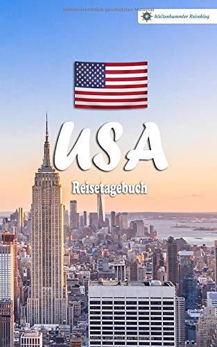 USA Reisetagebuch: Buntes Reise-Notizbuch zum Selberschreiben   Mit Checklisten und Fragen zum Ausfüllen   Kompaktes A5 Format